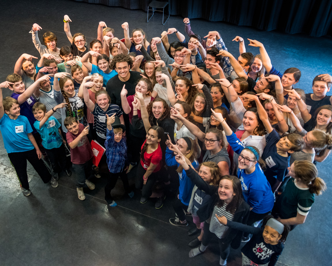 Hamilton's Andrew Chappelle visits Vermont Musical Theatre Academy