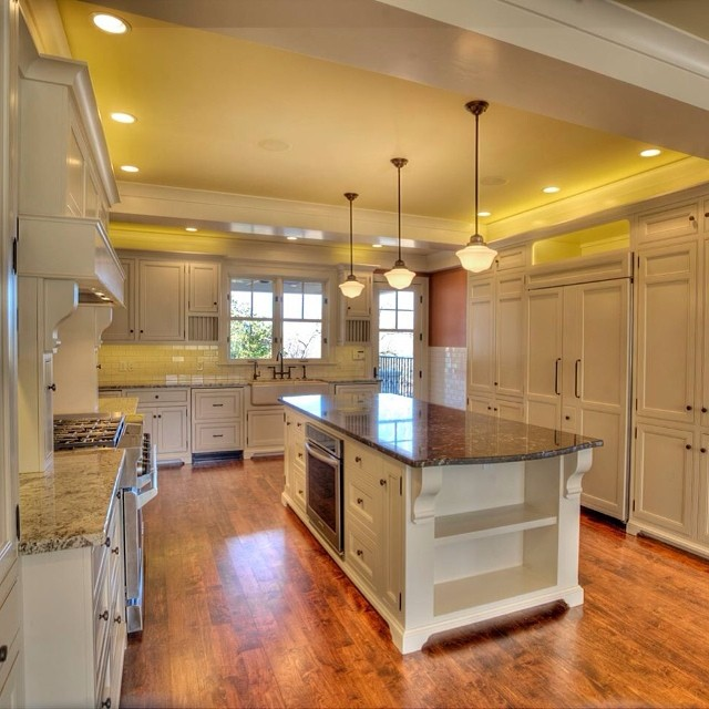 New kitchen completion in a new Craftsman home.