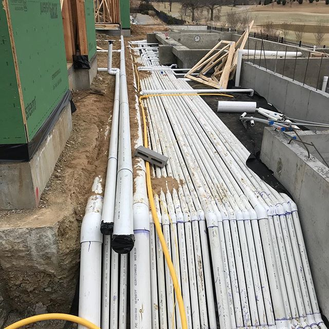 Most people have no idea what we put underground. The pool piping, underground storm water, French drain, irrigation, gas, and electrical supply systems can be complex. 95% of these lines service the swimming pool.