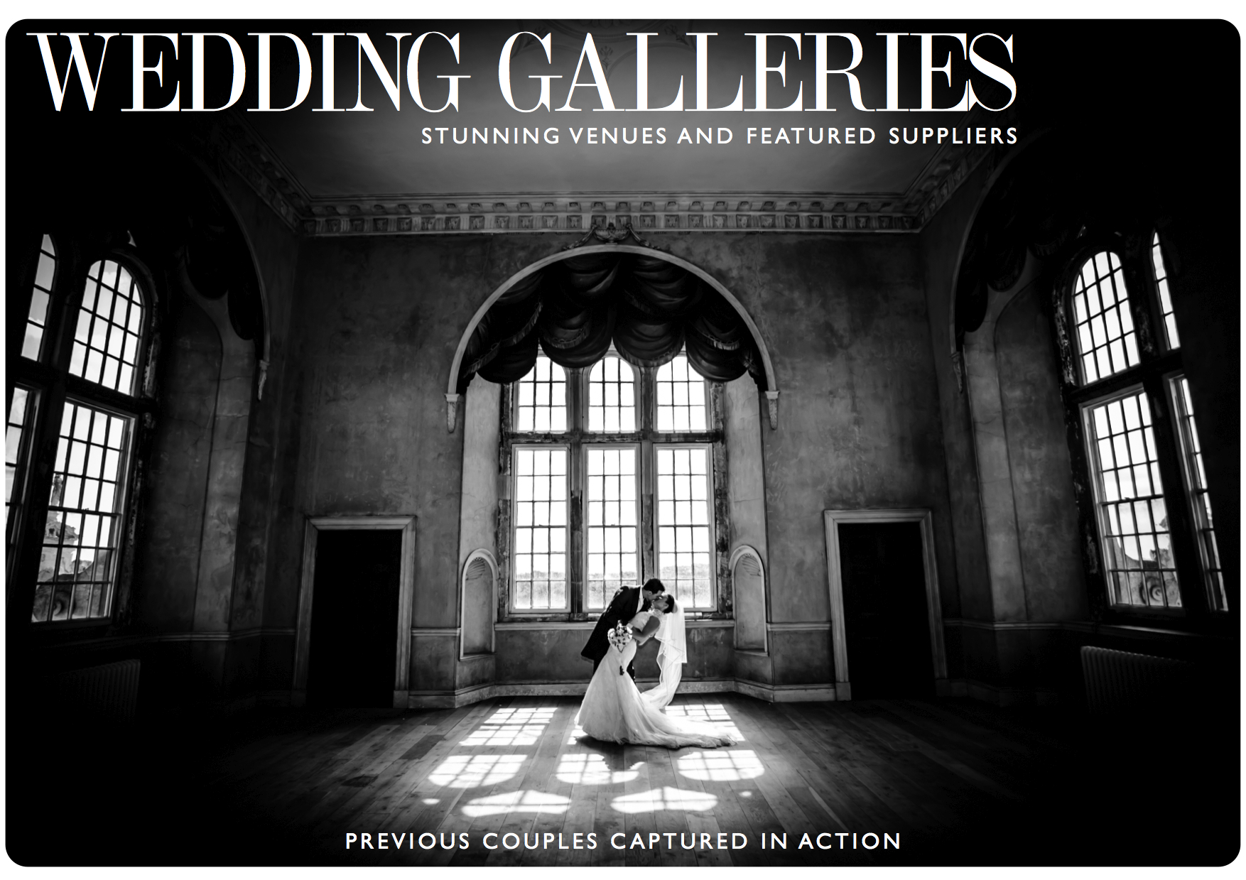 Wedding Gallery Examples - Click the image above to view our featured couples.