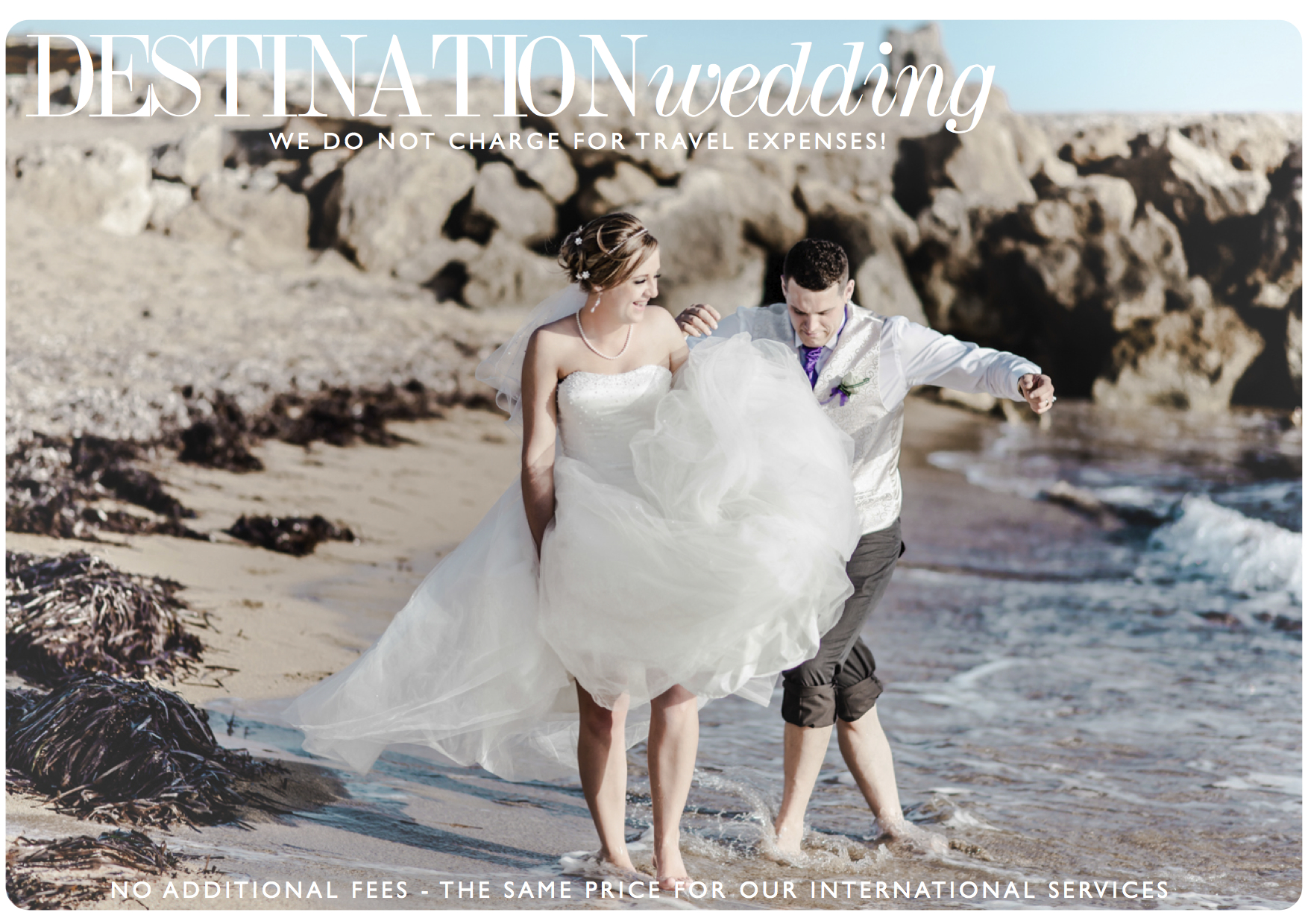 Destination Weddings - No additional fees! MP travels throughout the world. Click the image above to view his featured clients.