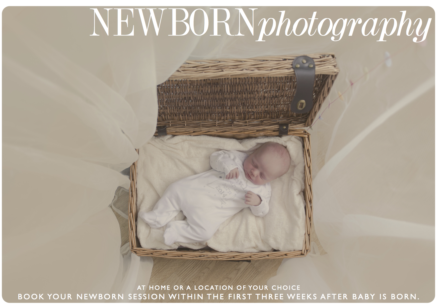 Newborn sessions - click the image above to view additional information.