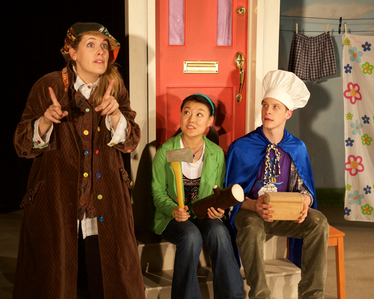 Heather Marie Annis, Joshua Stodart, &  Rong Fu.  Set & Costumes Designed by Lindsay C. Walker