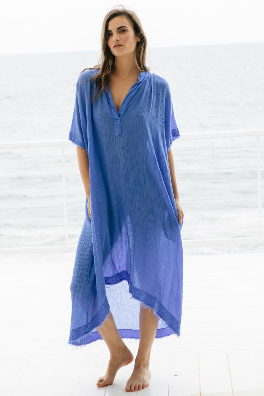 Tunisia caftan - moroccan blue