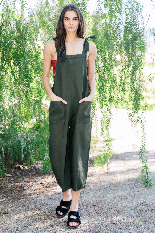 Latigo overalls - military green