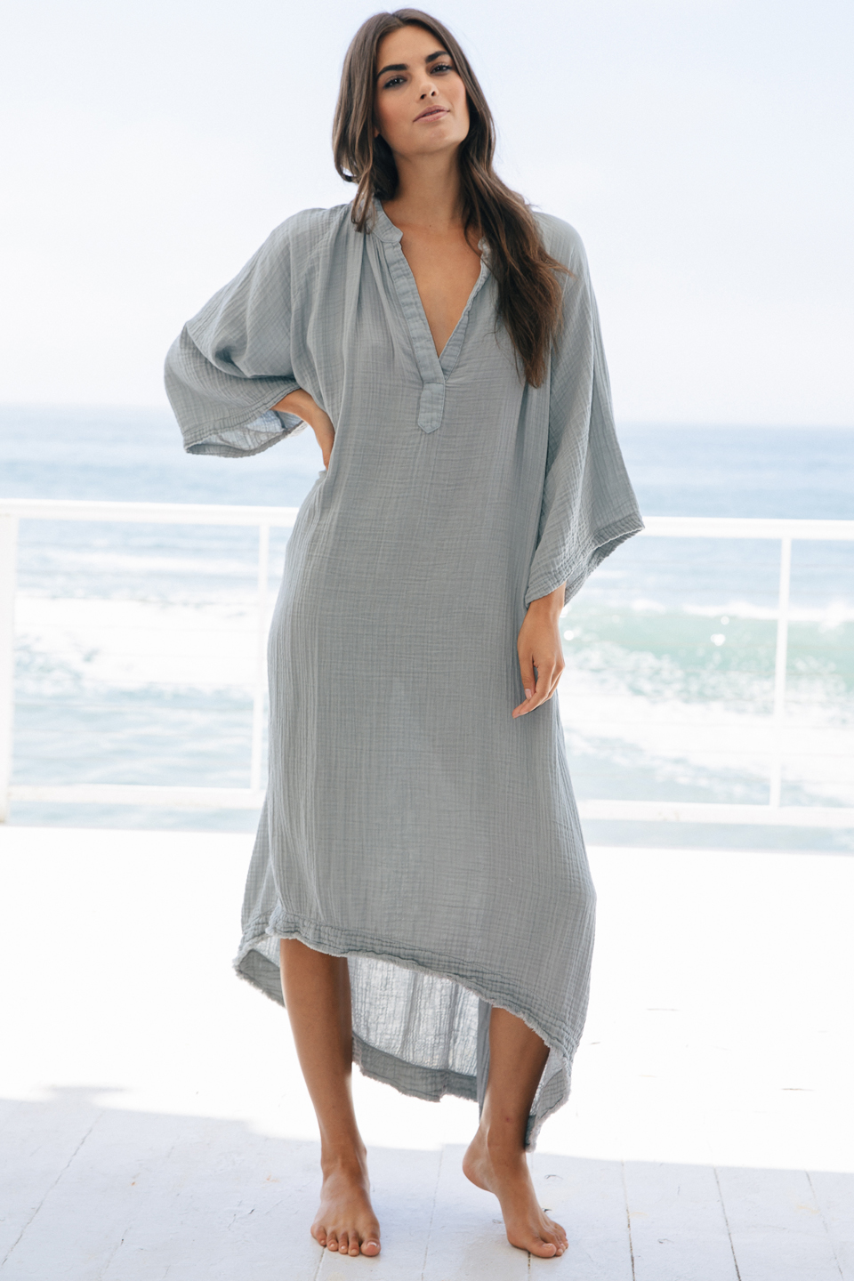 Tangier caftan - oyster