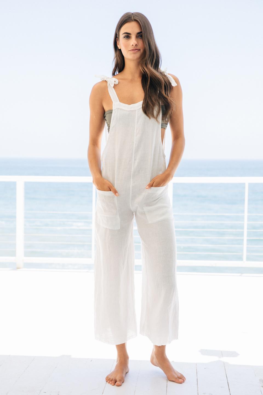 Latigo overalls - white