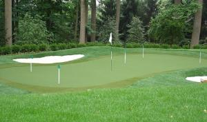 """Putting Greens and Sports Field Installation -""""Drive for show, putt for dough!"""" Let us put in your very own practice putting green or look to us for sports field installation for your organization."""