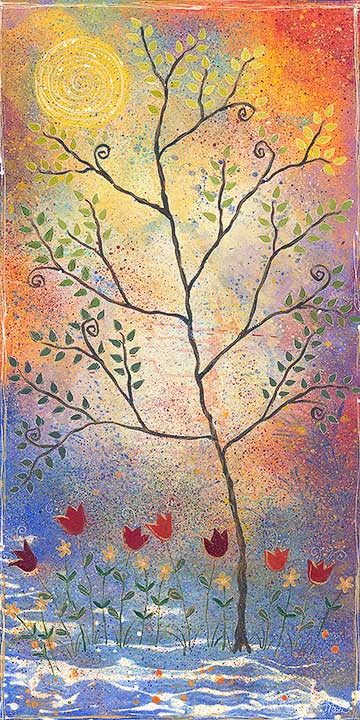 "Good Day Tree, 24x48"""