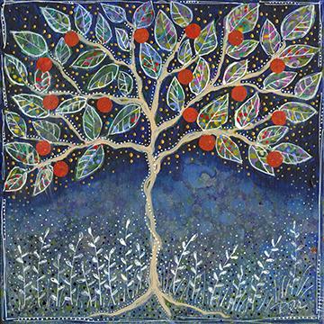 """Pretty Apple Tree, 12x12"""""""