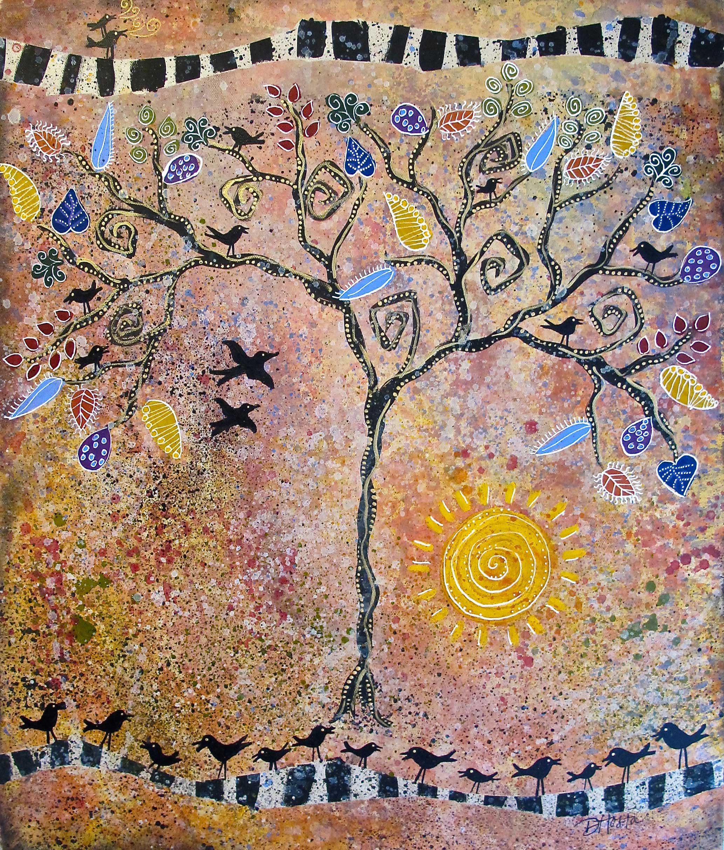 "The Gathering Tree, 16x20"""