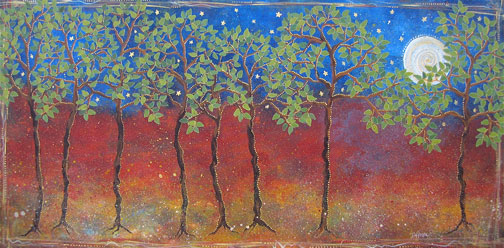 """Together Trees, 24x48"""""""