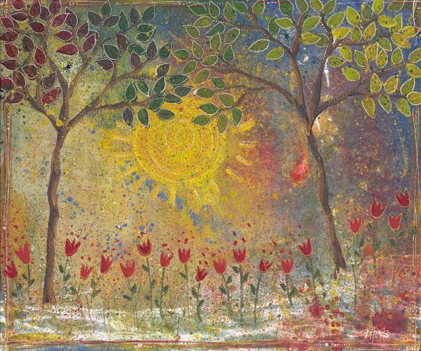"Tulips Under The Sun, 16x20"""