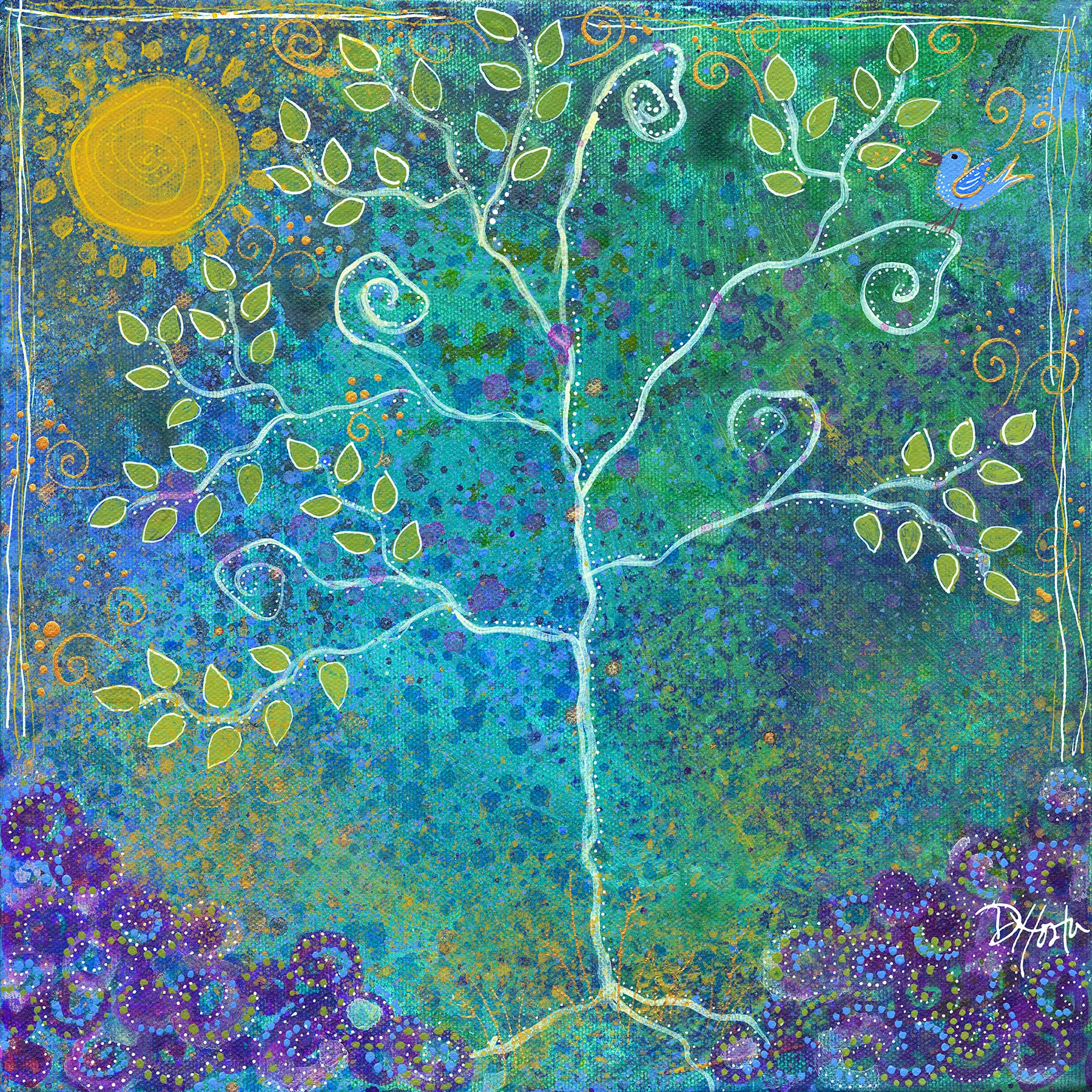 "Bright Day For Bluebird 1, 12x12"""
