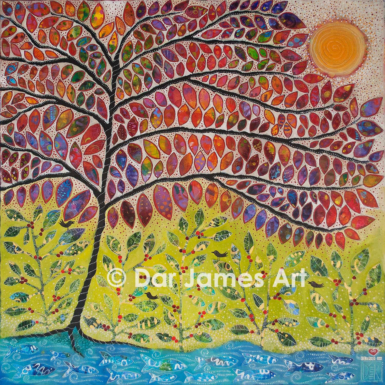 """""""Flora's Dream,"""" 36x36"""" Acrylic on canvas."""