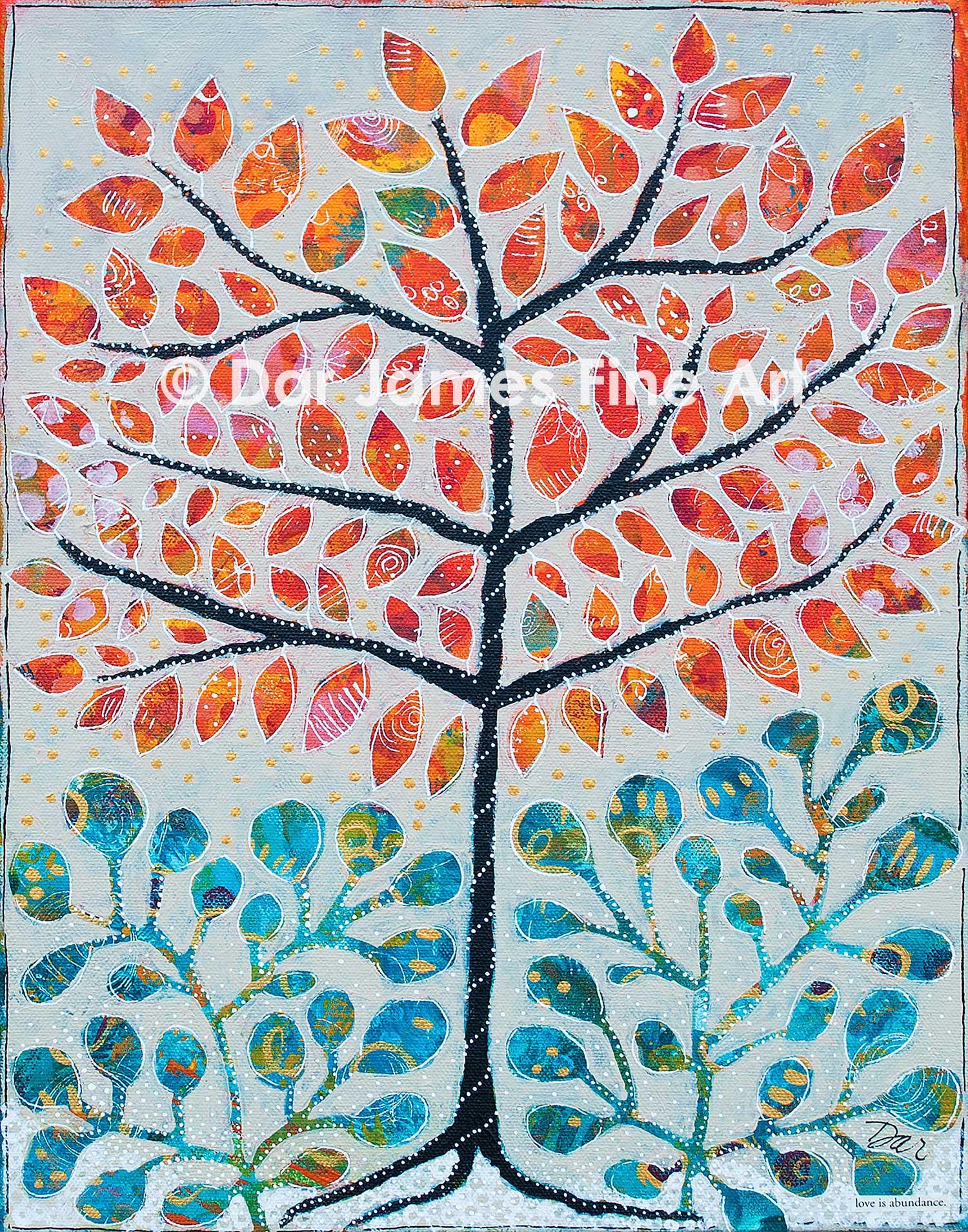 """""""Love Is Abundance,"""" 11x14"""" Acrylic on canvas."""