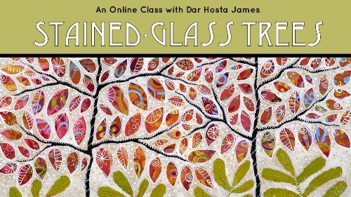 REGISTER AT;   CarlaSonheim.com   The simple and universal beauty of a tree meets the decorative grandeur of stained glass in this  three-week, acrylic painting, online course  with Dar Hosta James. Come along for a creative journey that gives you the recipe and the ingredients for your own fantastic, magical forest. You will begin with simple shapes and lines and continue with doodling, negative space, dots and more dots, and embellishment that truly proves more IS more!  We will put lots of emphasis on color harmony and pretty details. By the end of this course, you will have four gorgeous canvas paintings in various sizes and dimensions.  This is a course for ALL skill and artistic levels and you will surprise yourself with how you'll take this recipe and turn it into your own expression of trees, so come along for this new and fun artistic adventure!