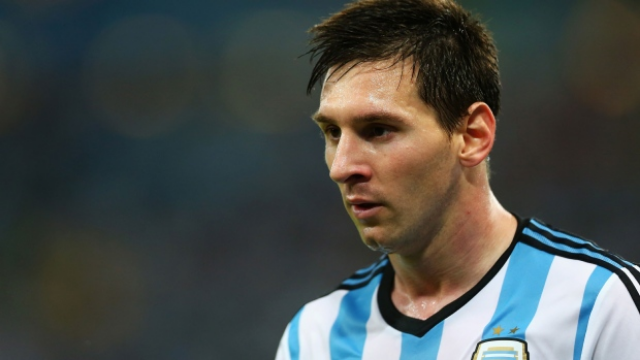 Lionel Messi, pondering when and where.