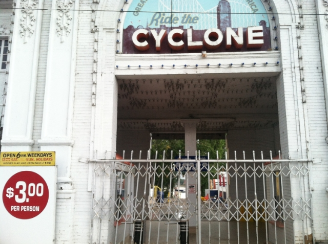 "In Denver, attending a conference, I happened upon  The Cyclone , part of  Lakeside Amusement Park . Lakeside has been in operation since 1908. The Cyclone opened in 1940.        Normal   0           false   false   false     EN-US   X-NONE   X-NONE                                                                                                                                                                                                                                                                                                                                                                           /* Style Definitions */  table.MsoNormalTable 	{mso-style-name:""Table Normal""; 	mso-tstyle-rowband-size:0; 	mso-tstyle-colband-size:0; 	mso-style-noshow:yes; 	mso-style-priority:99; 	mso-style-parent:""""; 	mso-padding-alt:0in 5.4pt 0in 5.4pt; 	mso-para-margin-top:0in; 	mso-para-margin-right:0in; 	mso-para-margin-bottom:10.0pt; 	mso-para-margin-left:0in; 	line-height:115%; 	mso-pagination:widow-orphan; 	font-size:11.0pt; 	font-family:""Calibri"",""sans-serif""; 	mso-ascii-font-family:Calibri; 	mso-ascii-theme-font:minor-latin; 	mso-hansi-font-family:Calibri; 	mso-hansi-theme-font:minor-latin;}"