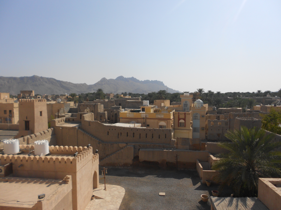 A scenic overlook in the middle of Nizwa, Oman, in January 2012.    Photo: Nathan F. Elmore.
