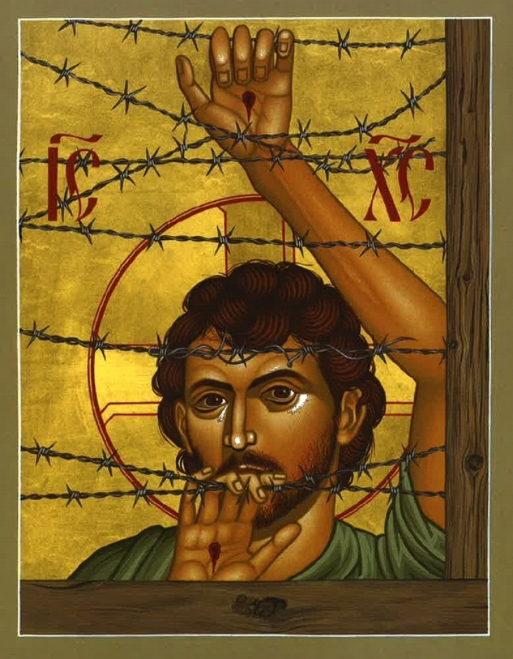 """In 2002, Br. Robert Lentz created the icon called  """"Christ of Maryknoll,""""  named to honor the U.S.-based Catholic mission movement."""