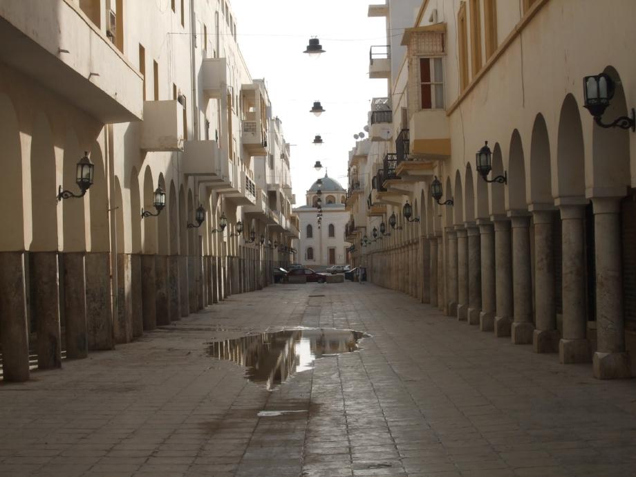 Inside the Italian Quarter in Benghazi, Libya.