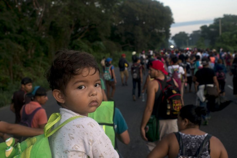 Honduran migrants take the journey through Mexico.  Photo: BBC News / Encarni Pindado.