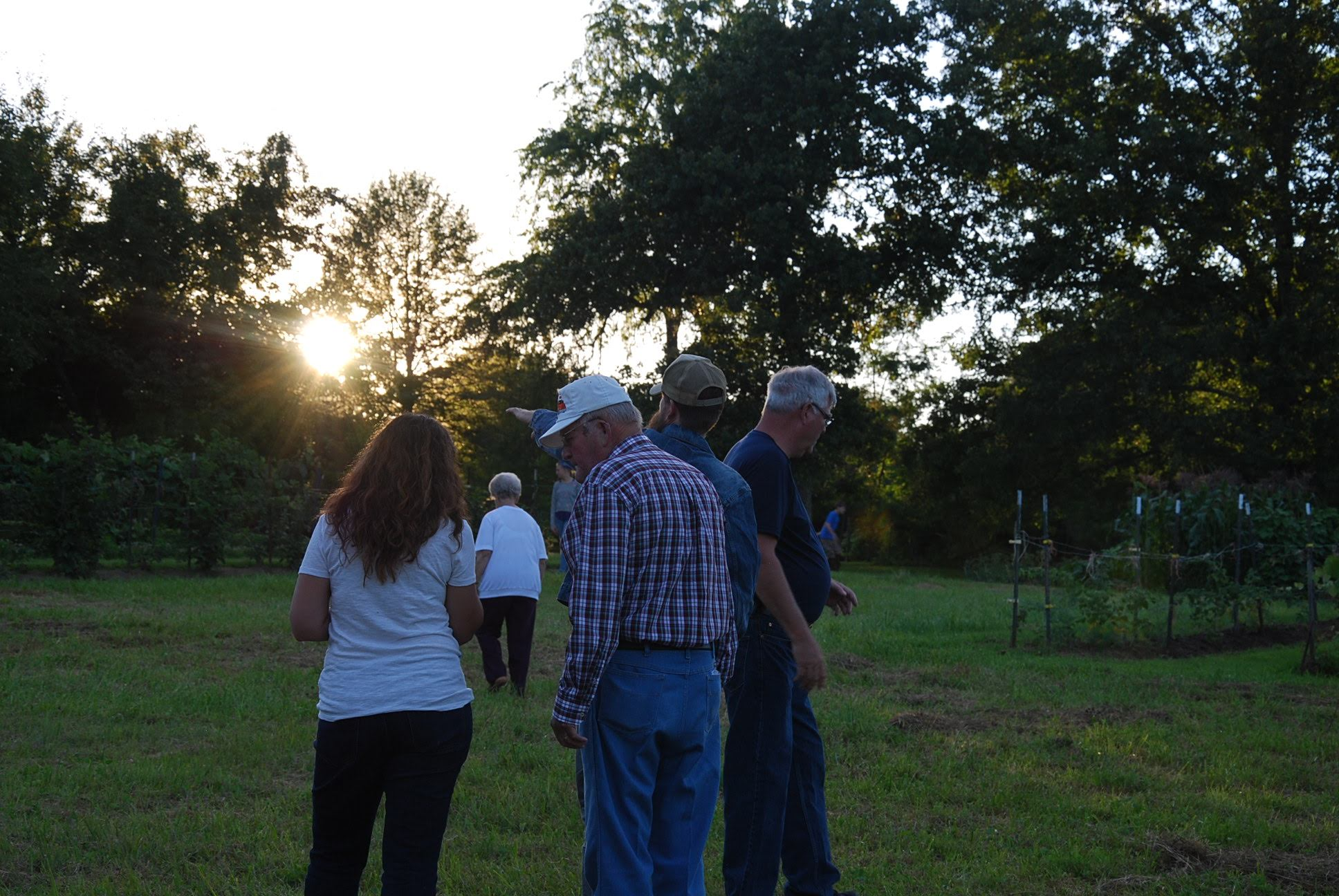 My grandpa, Joe Elmore (white hat), faced his sunset in July 2019.  The photo is from a family visit to Crossville, Tennessee in the summer of 2014.