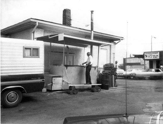 Bert Robertson, Robertson's Hickory Pit, Decatur, IL - 1972.