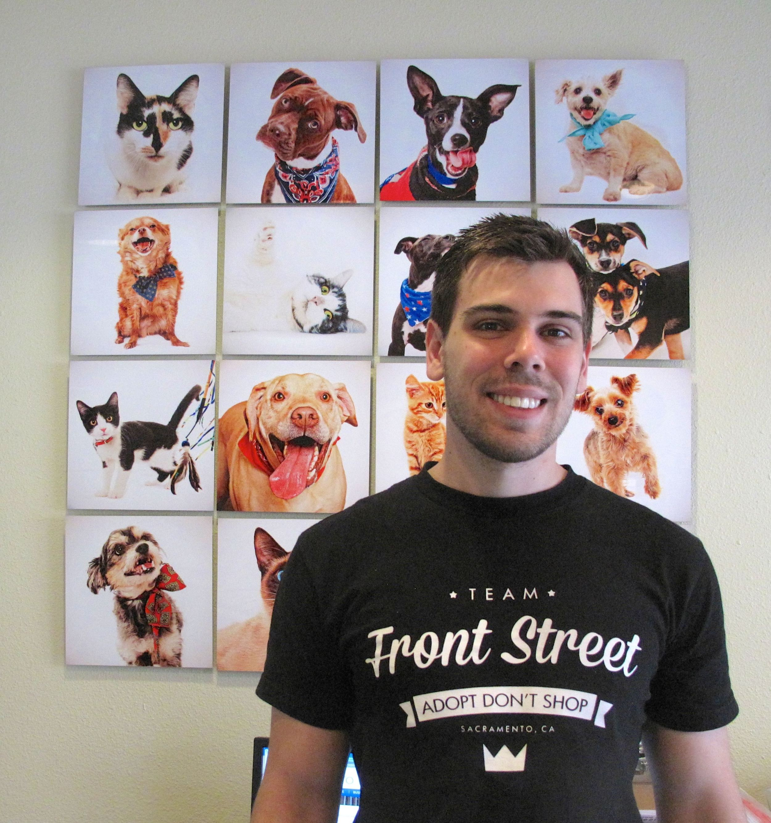 Front Street's Social Media/Humane Education Coordinator Ryan Hinderman.