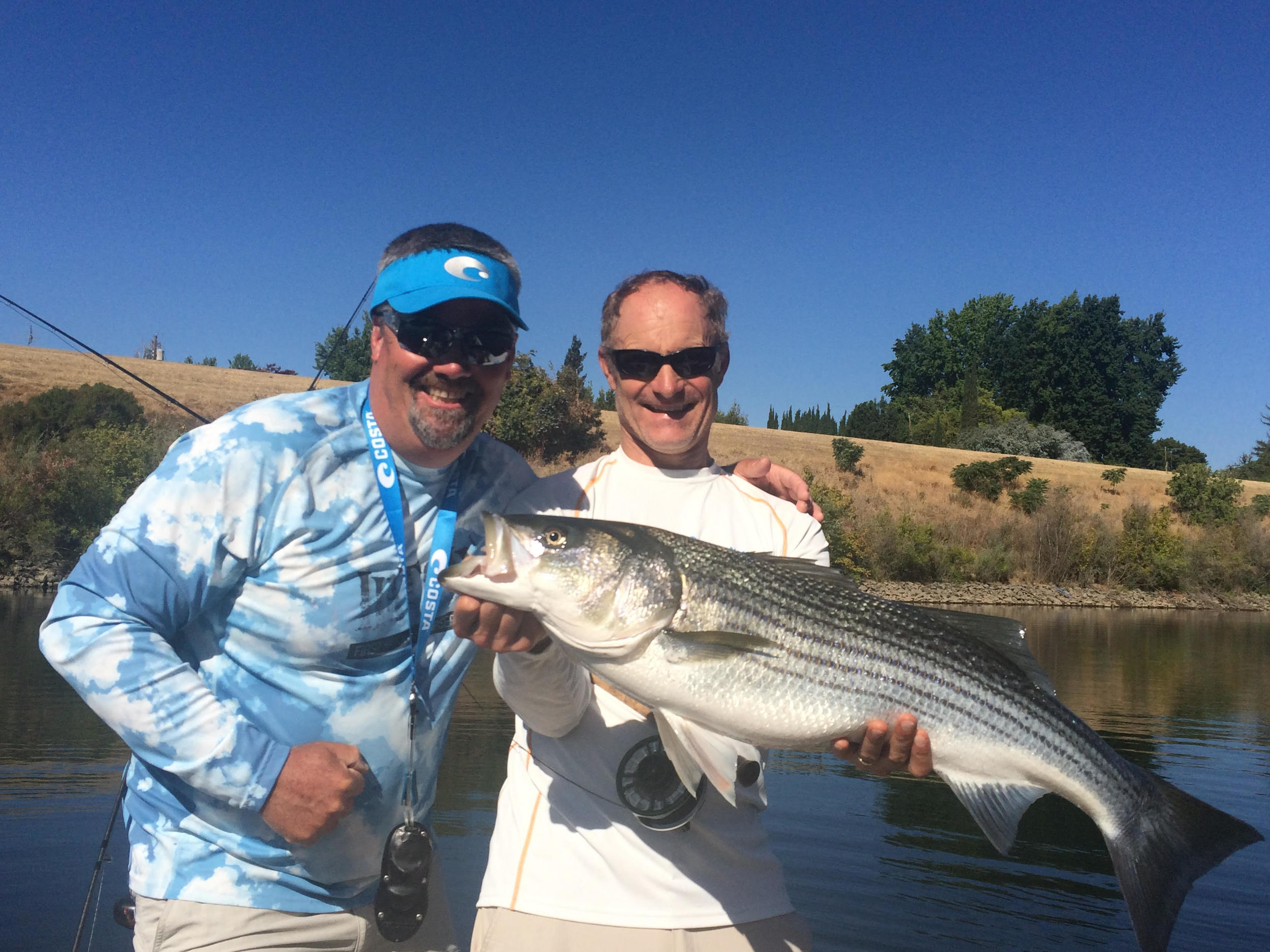 Giant American River striper caught by Dr. Ben Wilson (another original LP resident)