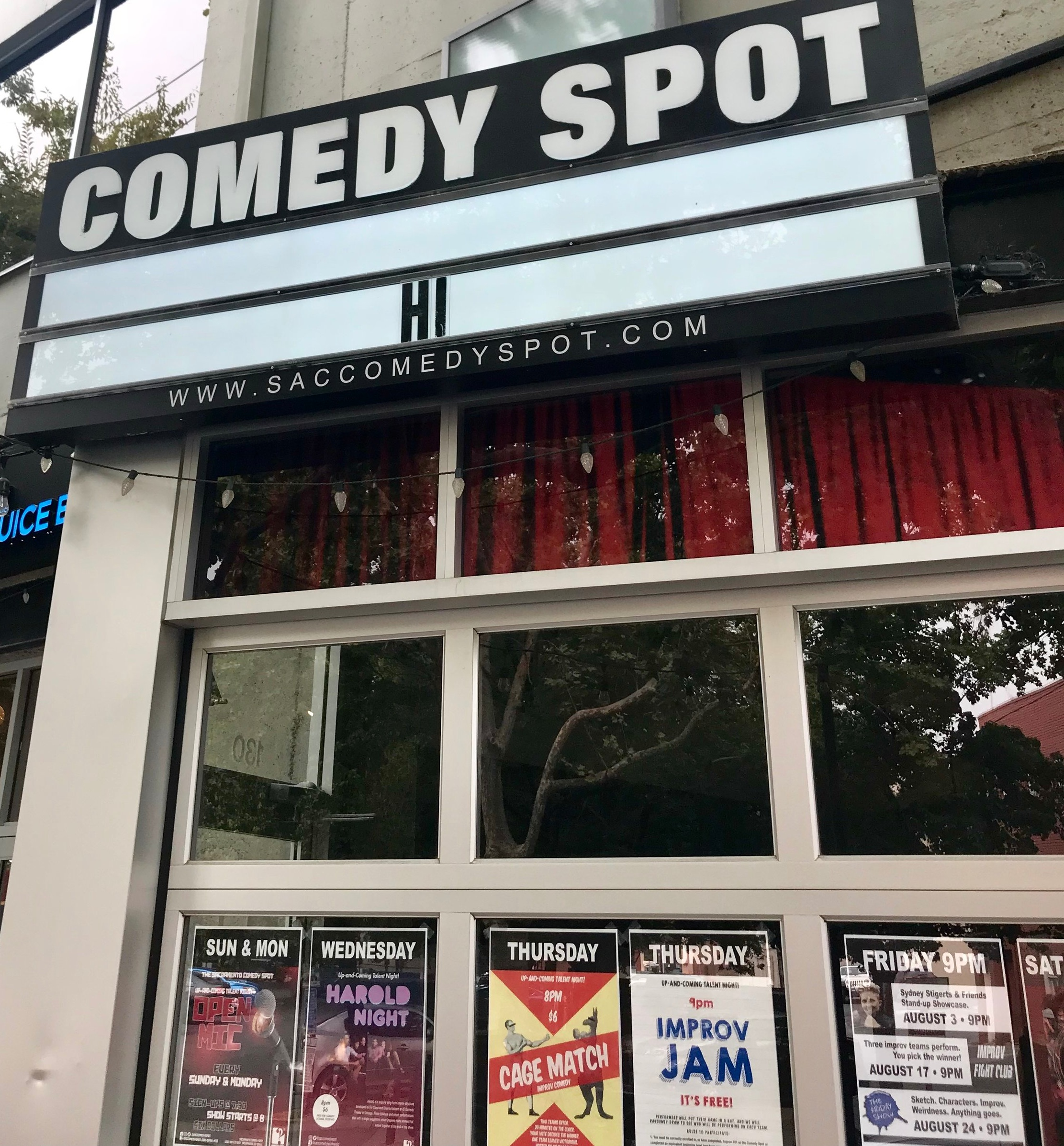 The Comedy Spot is located at 1050 20th Street, Suite 130 in Sacramento, CA!!