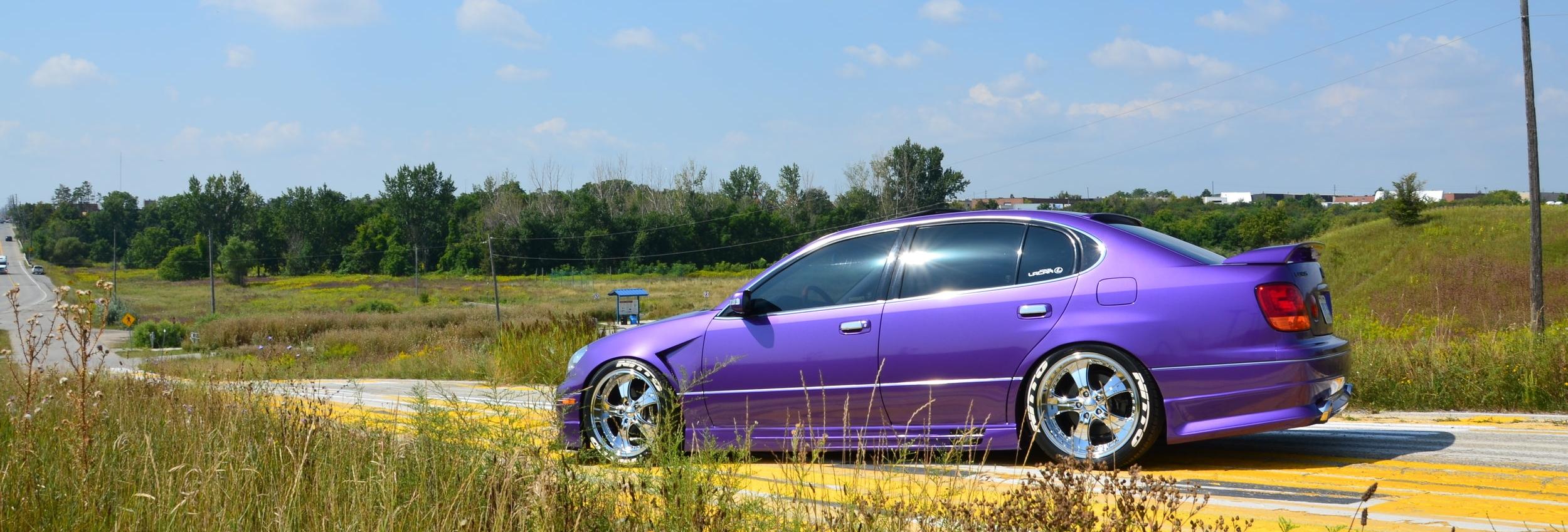 LEXUS GS400 Wrapped using Oracal Violet Metallic