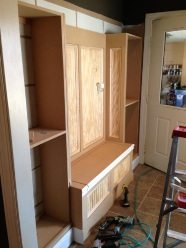 mudroom - during