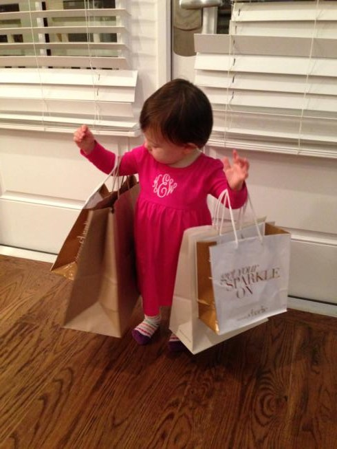She played with our shopping bags ALL night long!