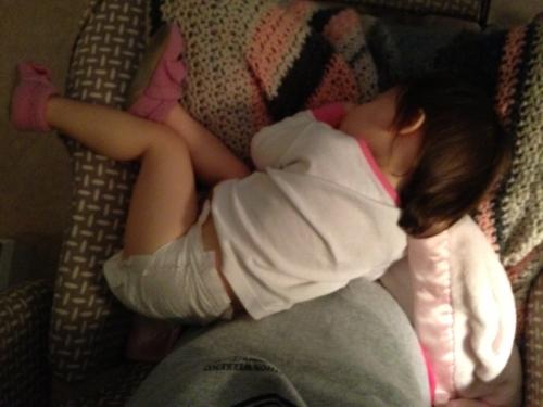 sleeping sick girl
