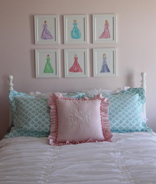 bedding and art