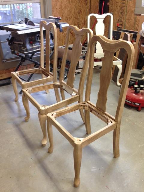 glazed chairs