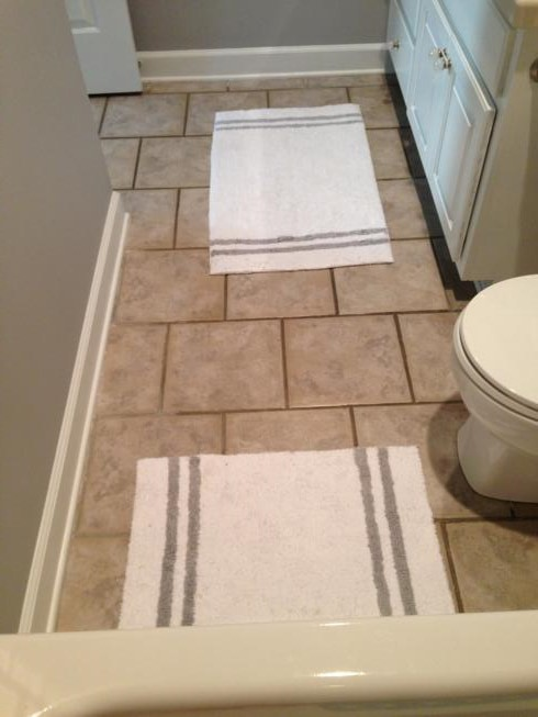 before grout