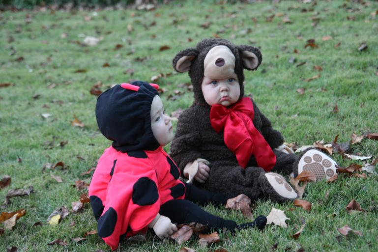 Caroline the lady bug with Henry the teddy bear