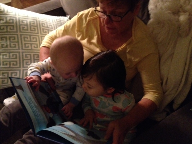 How cute are they reading books together??