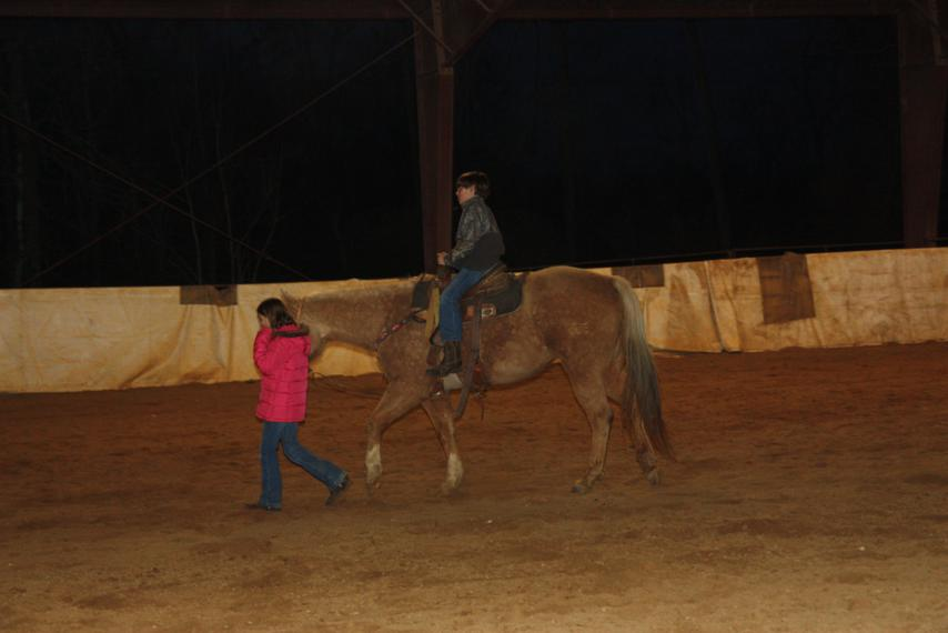 Neely helped Roger with leading the horses around.