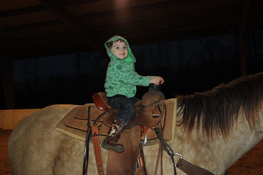 Ramer even rode by himself!
