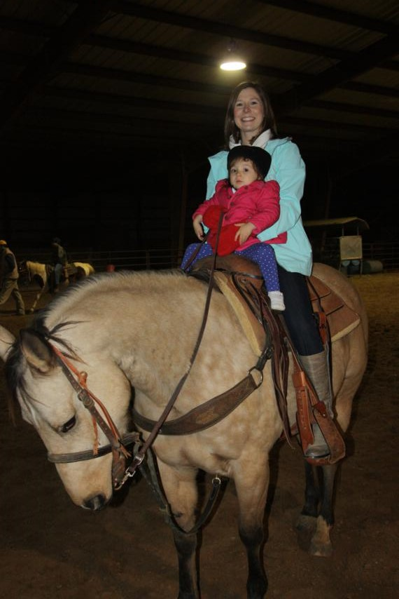 Yes, even I got on a horse! I was terrified. No one would lead me; theymade me take the reins myself!