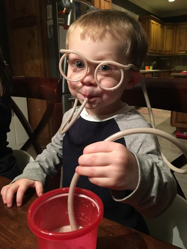 Chocolate milk goggles!