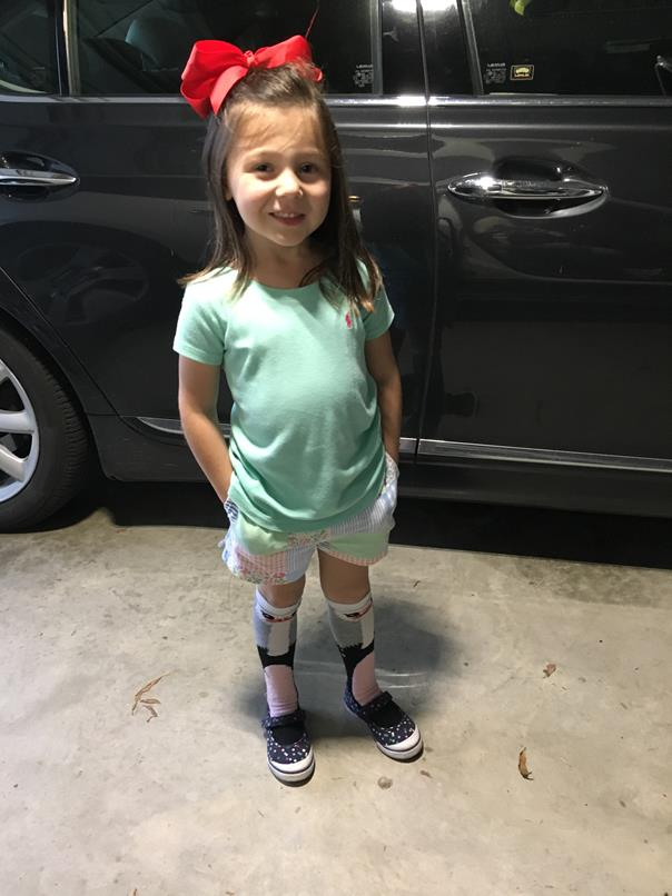 When she dresses herself...