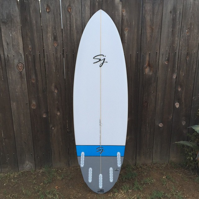 "Custom 5'10"" x 20"" x 2.5"" #halibut 💥💥 #sjsurfboards"