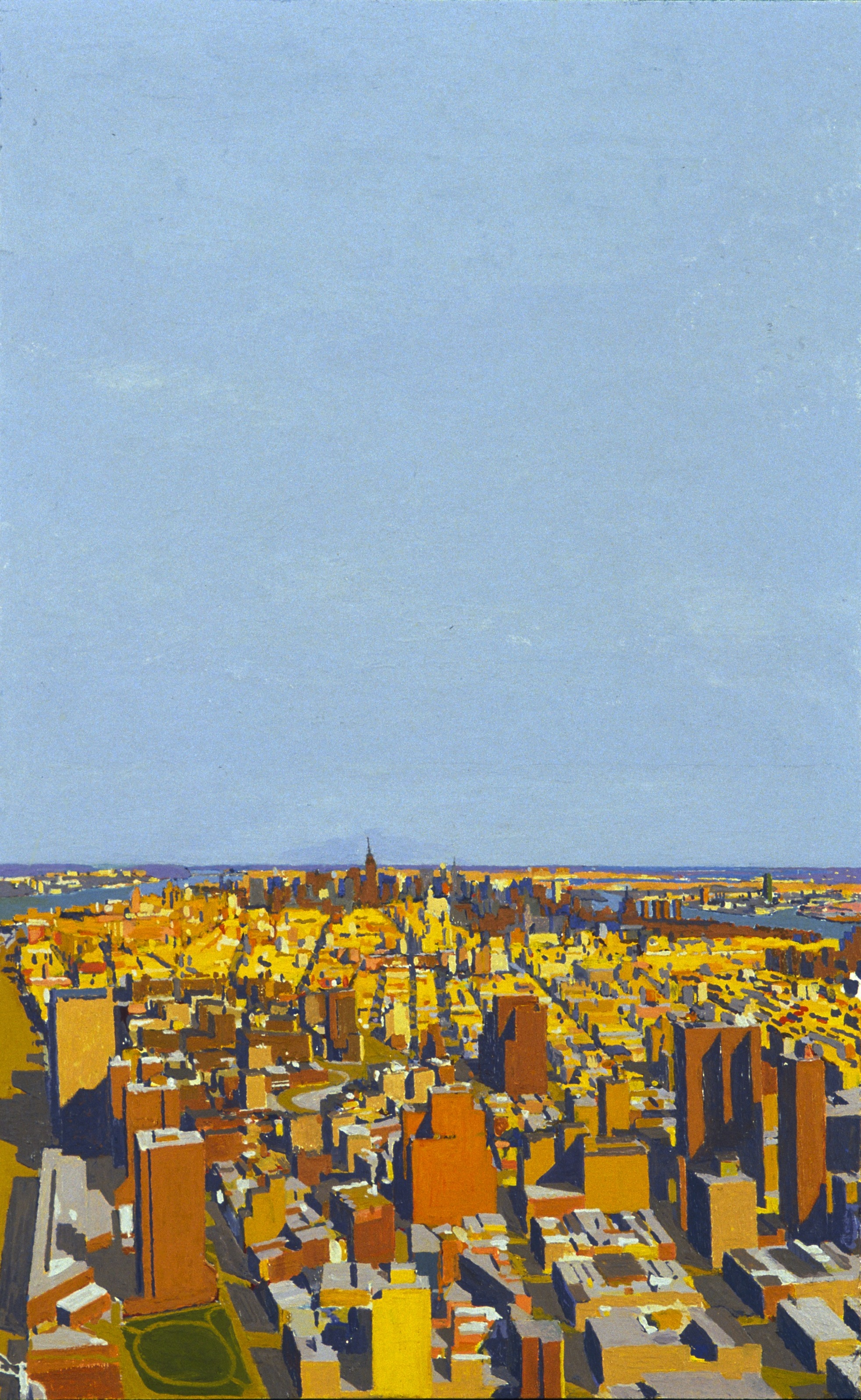 Manhattan IV, 1998, oil on panel,  14 x 17 inches