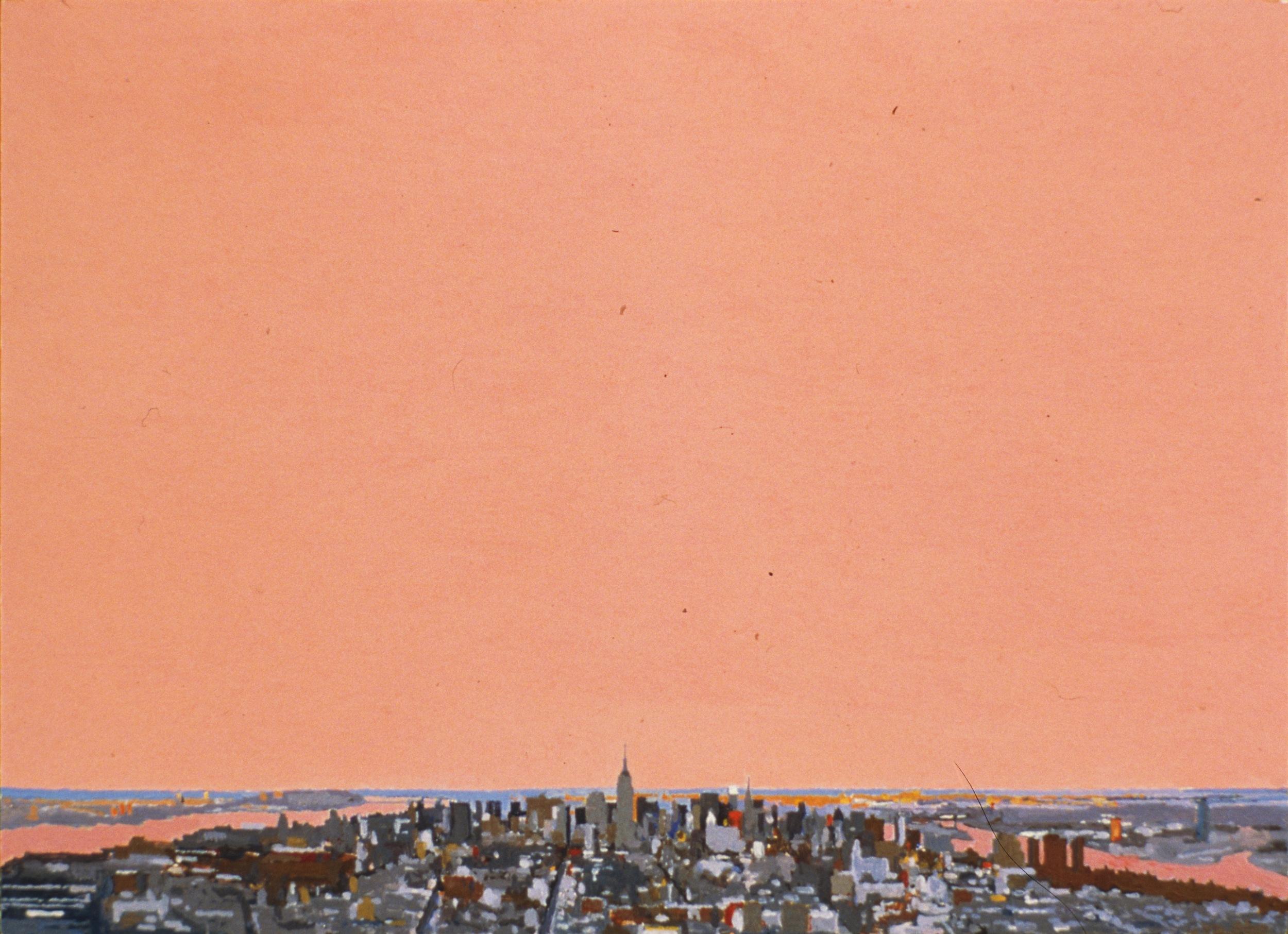 Manhattan II, 1998, oil on panel, 8 x 11 inches