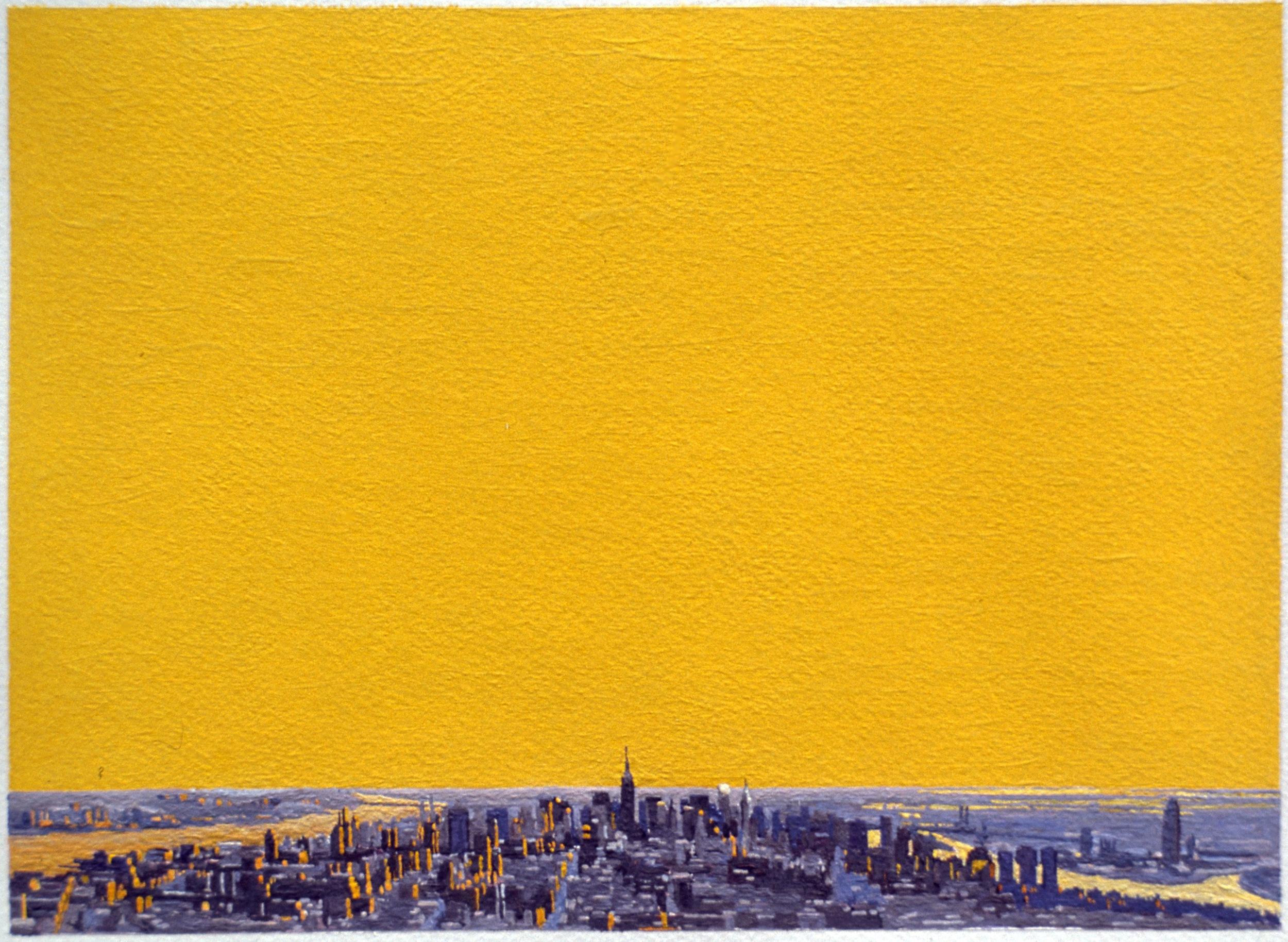 Manhattan VI, 1998, oil on paper, 8 x 11 inches